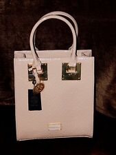 NWT CXL By CHRISTIAN LACROIX SCARLETT EMBOSSED PATENT LEATHER TOTE HANDBAG BLUSH