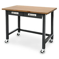 Seville Classics UltraGraphite Commercial Heavy-Duty Wheeled Workbench with Draw