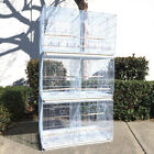 Set of 3 Breeding Bird Carrier Cage with Central Dividor White