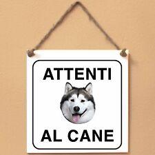 Targa piastrella cartello cane Attenti al cane ALASKAN MALAMUTE 5