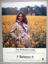 Burberrys Trenchcoat PRINT AD - 1981 ~~ Lady Annunziata Asquith ~ Burberry