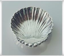 Sterling Silver Ornate Shell Bowl Scalloped Edge Oyster Butter Dish Master Salt