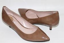 NEW VINCE CAMUTO NAUREEN BROWN TAUPE PATENT LEATHER PUMP   SZ 5.5