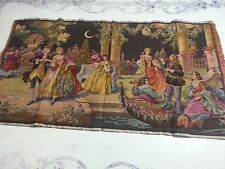 """Beautiful Large 36"""" X 20"""" Vintage Victorian Tapestry  Made in Belgium"""