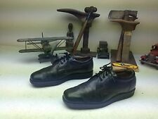 DISTRESSED VINTAGE USA ALL SEASON CASUALS BLACK LEATHER ENGINEER VIBRAM SHOES 9D