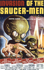 Invasion Of The Saucer Men B Movie Poster A3 reprint