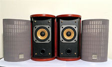 JVC Cherrywood Round Bookshelf Speakers SP-FSSD9 20W 4 Ohm