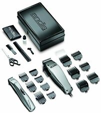 Andis Hair Clipper Trimmer 23pc Cord less Combo Kit Pack beards mustach cordless