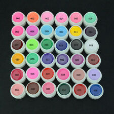 36 Multi Color Pots Soak Off Pure Color UV Gel For Nail Art Tips Shiny Cover