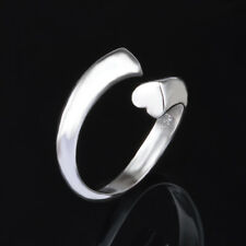 925 Silver Plated Heart Band Ring /Thumb Ring Fully Adjustable - ladies gifts