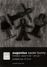 4/12/93PGN10 EUGENIUS : EASTER BUNNY ADVERT 7X5""