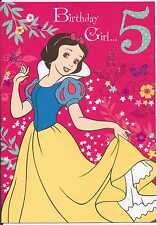 Disney Princess Snow White Birthday Girl..5 card