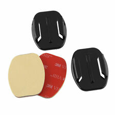 2pcs Adhesive Pads Flat Curved Helmet Mounts 3M GoPro HD Camera Hero 3 3+ 4 5