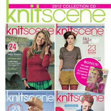 5 Issues on CD: KNITSCENE MAGAZINE 2012 Knitting Patterns + Bonus Accessories