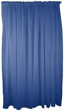 "NAVY BLUE VOILE ROD POCKET CURTAIN DRAPE 59X48"" 150X122CM"