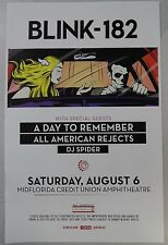 Blink 182 - August 6th, 2016  * ORIGINAL CONCERT POSTER * FREE U.S. SHIPPING ! !