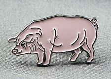 Metal Enamel Pin Badge Brooch Pig Piggy Oink Piglet Farm Pink