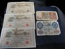 3 1910 Germany 1000 Mark Notes 1 1914 20 Mark Note 1 1942 5 Mark Note