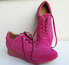 MAX MARA Pink Leather Trainers, size europ 39 USA 8.5 UK 6  NEW ARRIVALS