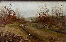 André-Paul Leroux (1870-1950)huile/panneau Paysage Le havre,Fécamp?Normandie