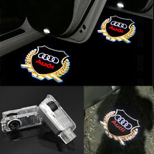 2x LED Audi gold Logo Door  laser Projector light For AUDI A4 A3 A6 A7 Q5 Q7 R8