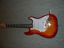 Custom wired strat style electric guitar