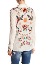 $220 NWT Johnny Was 3J workshop Iritt Embroidered Western Blouse Shirt M L