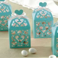 20 BLUE FAVOUR LANTERN BOXES IDEAL FOR COMMUNION/WEDDINGS AND CHRISTENINGS
