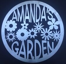"""Custom Name Garden Sign 23.5"""" Metal Personalized"""