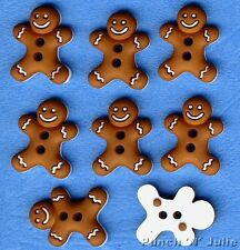 ICED COOKIES - Christmas Gingerbread Man Men Novelty Dress It Up Craft Buttons