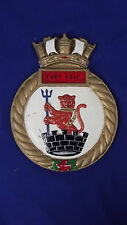 """HMCS Fort Erie Ships Crest, Aluminium 9.5""""x7.5"""" One Off Casting River Cls. Frig."""
