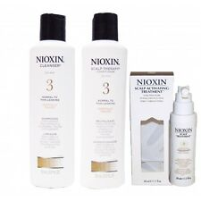 Nioxin System 3 Trio Trial Set Cleanser,Scalp Therapy& Scalp Treatment