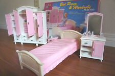GLORIA Doll house FURNITURE BEDROOM & WARDROBE PLAY SET FOR Barbie