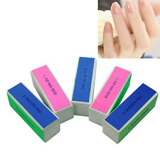 Polished 5 Pcs Nail Art Manicure 4 Way Shiner Buffer Buffing Block Sanding File