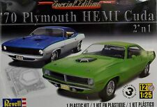 PLYMOUTH HEMI CUDA 1970 2 IN 1 REVELL 85-4268 1:25 NEW SEALED