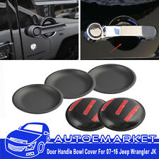 5pcs Door Handle Bowl Trim Tailgate Cover for Jeep Wrangler JK Unlimited 4 Door