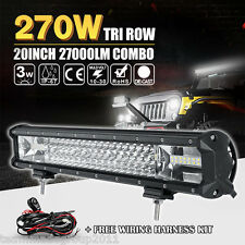 TRI-ROW 20INCH 270W OSRAM LED LIGHT BAR OFFROAD DRIVING SPOT FLOOD COMBO PK CREE