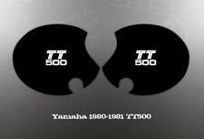 YAMAHA 1980-1981 TT500 SIDE COVER DECALS GRAPHICS