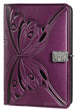 BUTTERFLY Oberon Design Leather Journal 6x9 Large Orchid bench-crafted JLM46