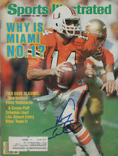 Vinny Testaverde Miami Canes SIGNED Sports Illustrated 11/24/86 COA!