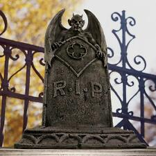 Cemetery Tombstone Winged Demon Ghoulish Grave Marker Halloween Prop