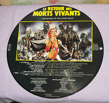 vintage French France THE RETURN OF THE LIVING DEAD PICTURE DISC soundtrack