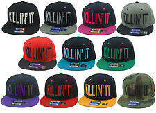 New Killin It Snap Back Hat Flat Bill Snapback Caps Wholesale Lot of 12 Hats