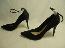 JustFab Vesper Hi High Heels Classic Pumps Pointed Toe Womens Size 10 BLACK