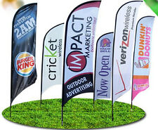 Feather flag small 2.8m banner exhibition events retail display merchandise