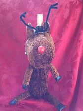 FLAWLESS Exceptional CHRISTMAS RUDOLPH Reindeer Bottle WINE CHAMPAGNE Cover