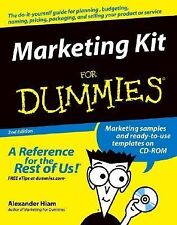 Marketing Kit for Dummies by Alexander Hiam (2004, CD-ROM / Paperback, Revised)