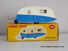 Dinky Toys # 190 CARAVAN - Near Mint Model in Excellent Original Box