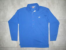 Vintage NIKE White Label BLue Long Sleeve Pullover Knit Polo Shirt USED SMALL