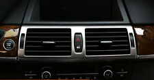 Steel Middle Console Air Vent Outlet Frame Trim 1pcs For BMW X5 E70 2009 - 2013
